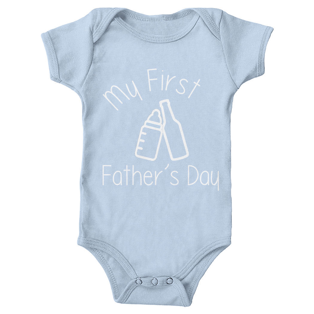 My First Fathers Day Babygrow Romper Cute Gift Dad Daddy Newborn Bodysuit New