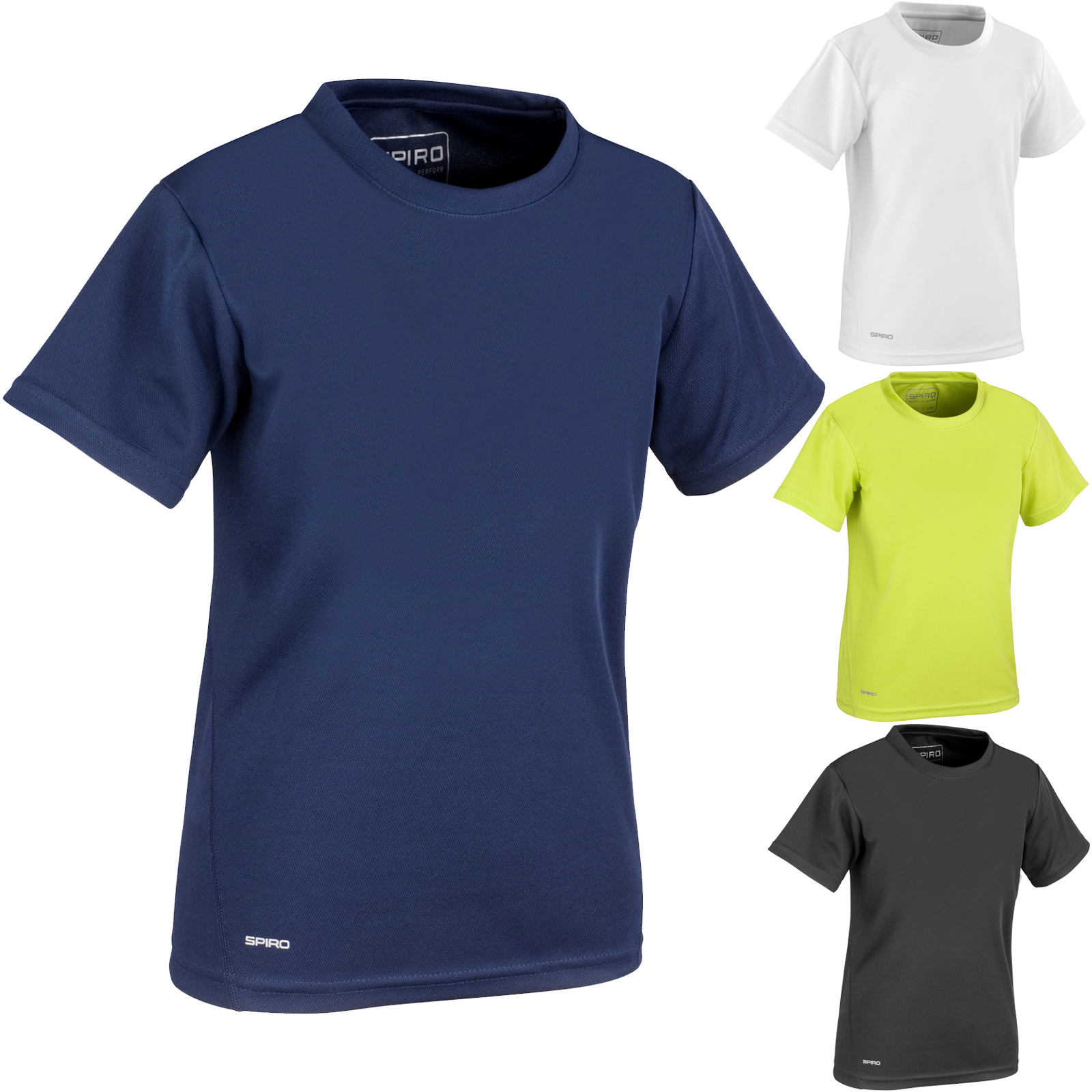 Spiro Spiro Quick Dry Short Sleeve Junior Tshirt Clothes, Shoes & Accessories