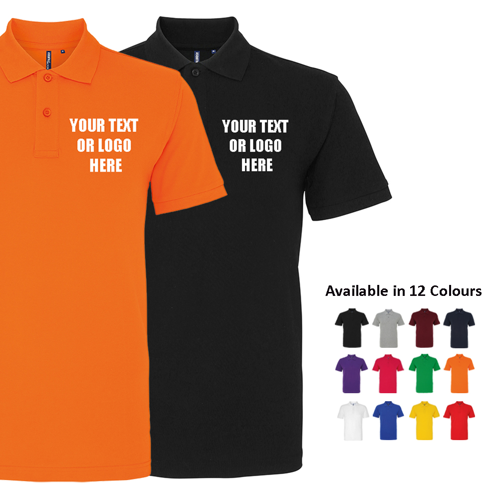 Custom Printed Premium Polo Shirt Personalised Stag Do Workwear