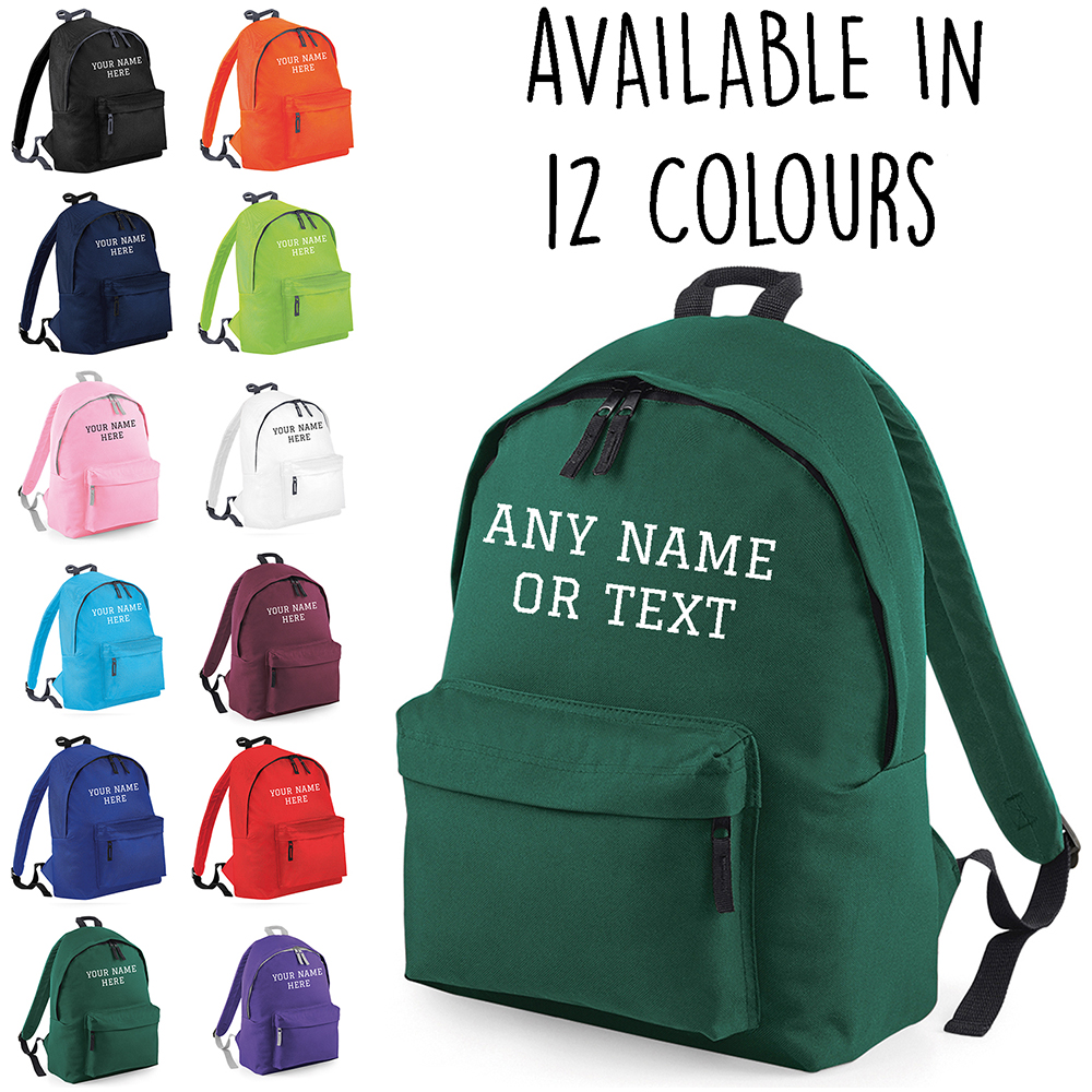 f715dd88920c Details about Personalised Kids Backpack Any Name Text Girls Boys Back To School  Bag Rucksack