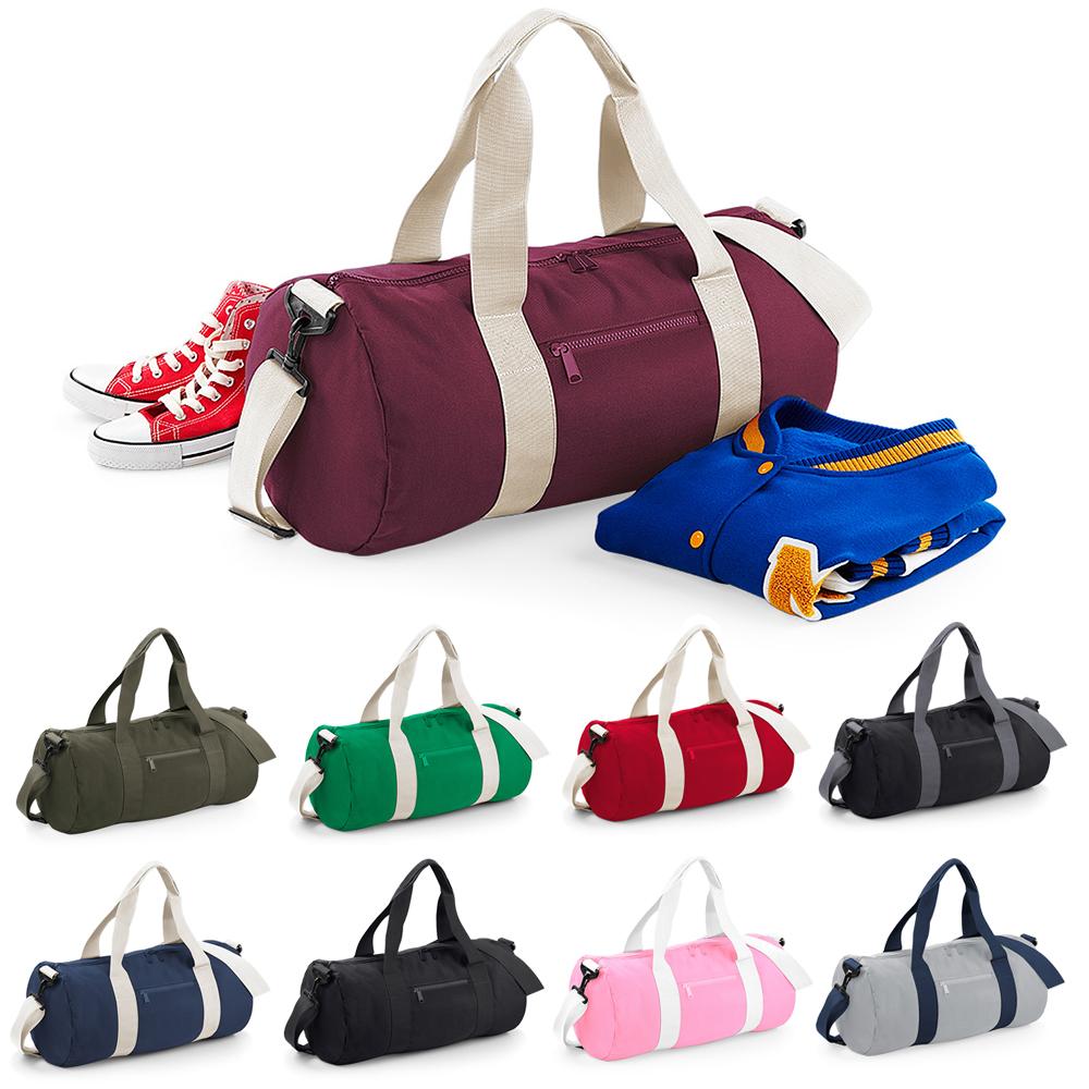 83d07a5e87 Premium Barrel Bag School College Uni Holdall Carry Case Gym PE Kit Sport  Shoes