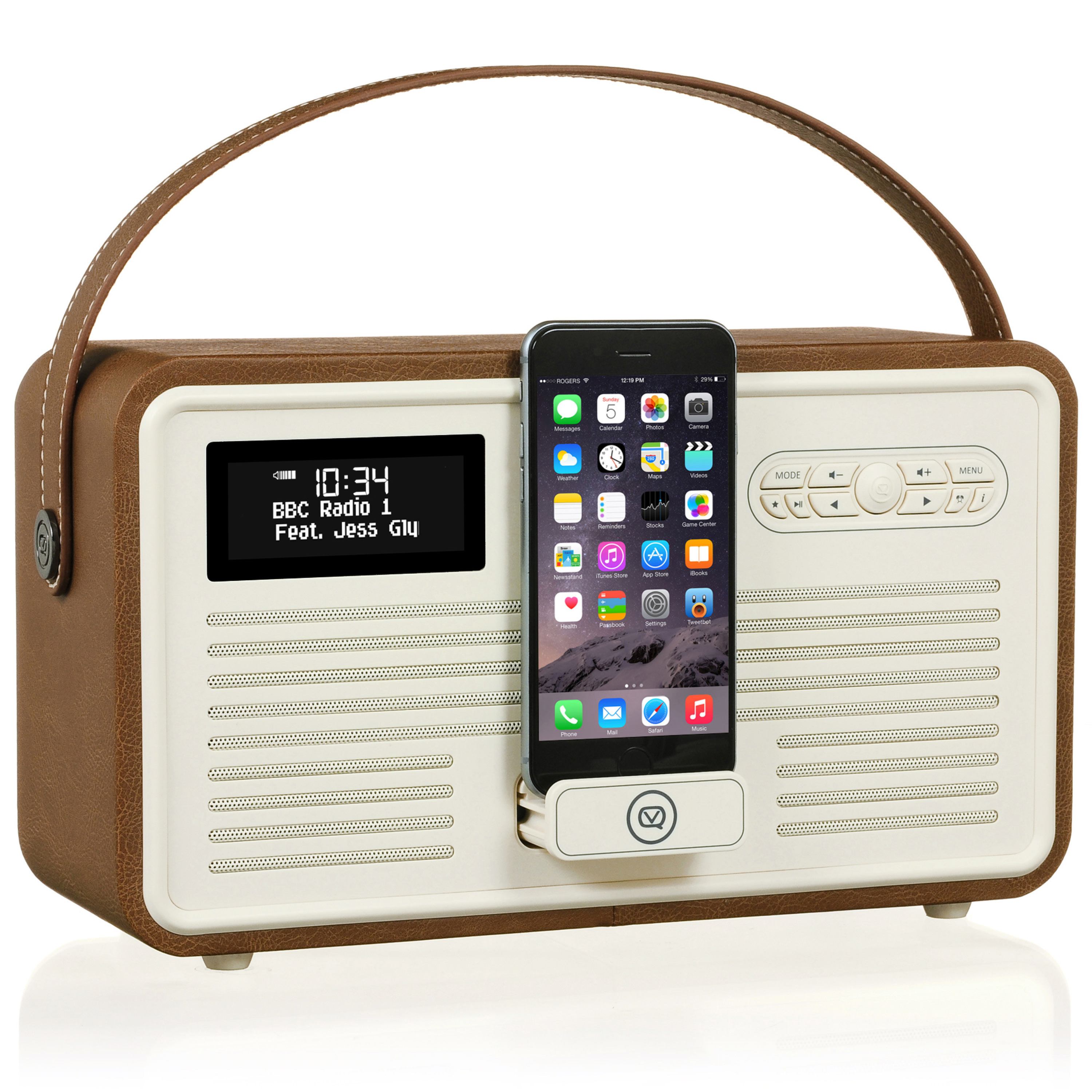 Details about VQ Retro Mk II DAB+ with FM, Bluetooth, Apple Lightning Dock  & Alarm - Brown