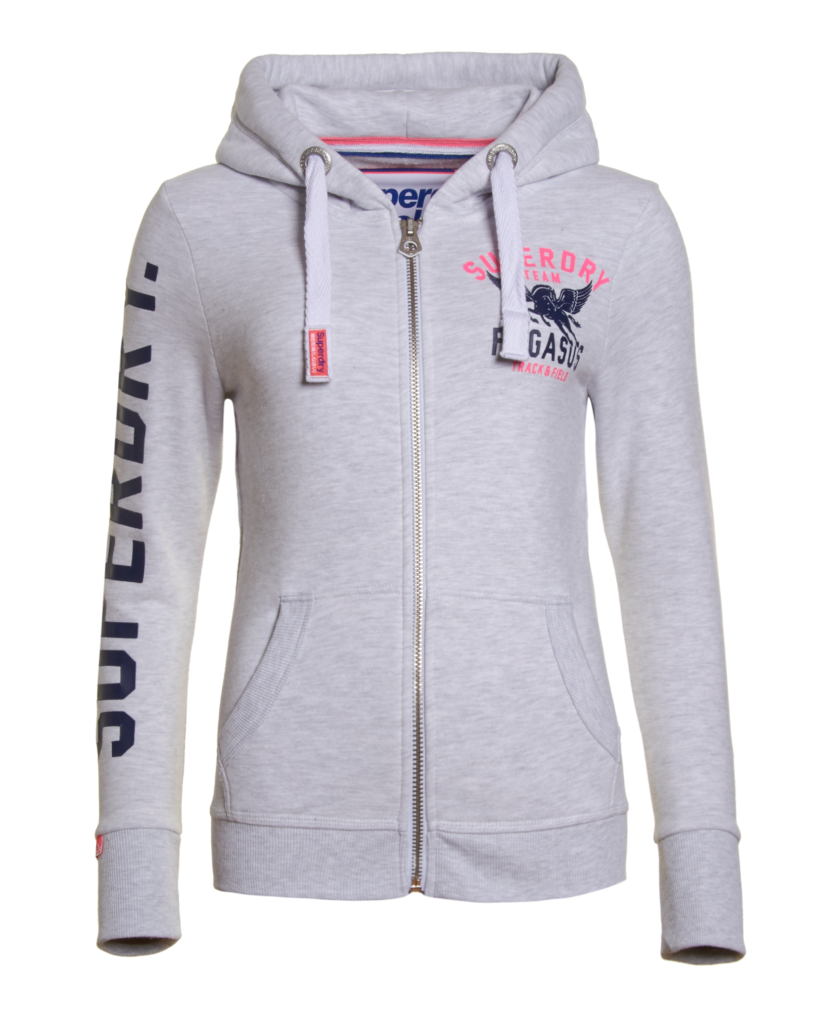 newest e9e08 fcdb3 Details about Womens Superdry Trackster 'Pegasus' Zip Hoodie Ice Marl