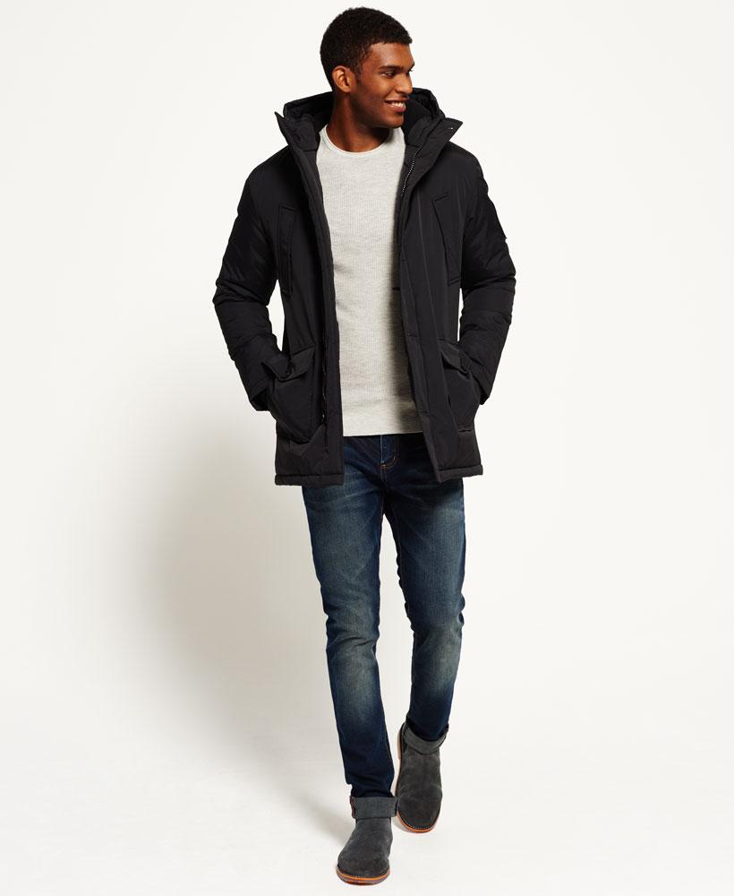 New Mens Superdry Everest Parka Jacket Black | eBay
