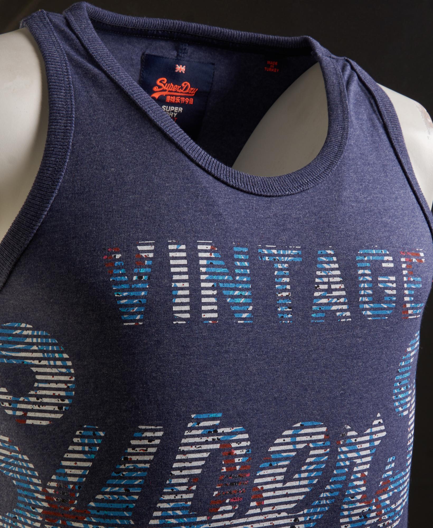 Details about Mens Superdry Premium Goods Fade Vest Top Princeton Blue Marl