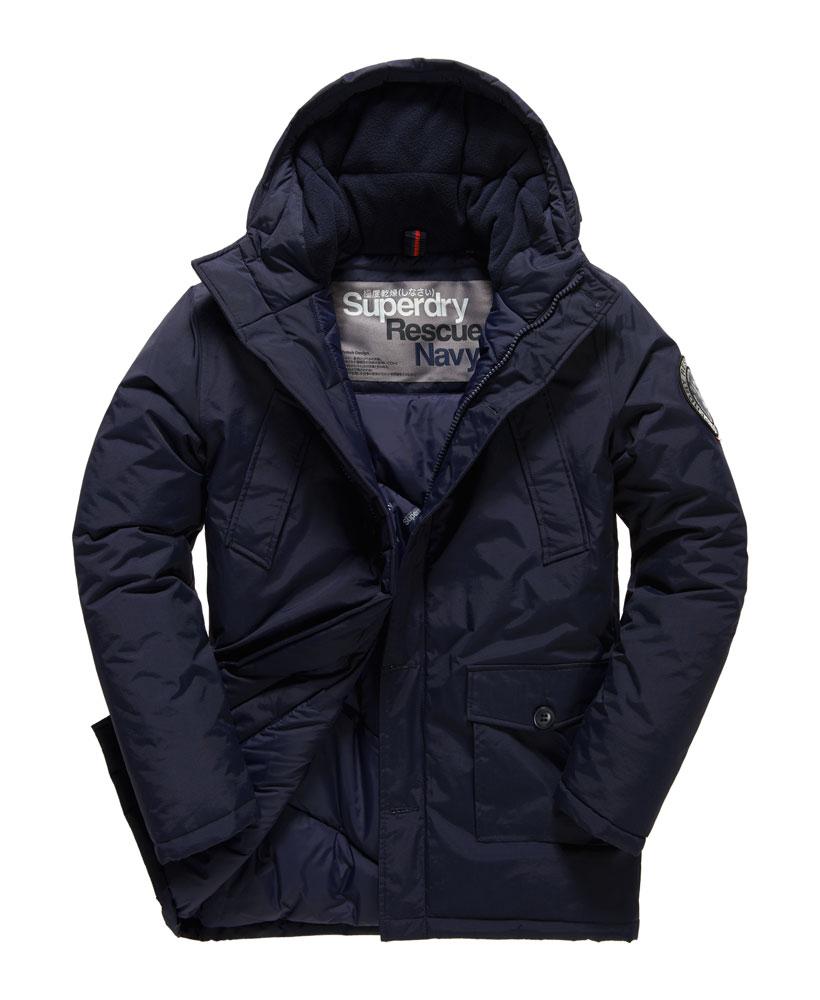 Mens Superdry Everest Parka Jacket Navy Ebay
