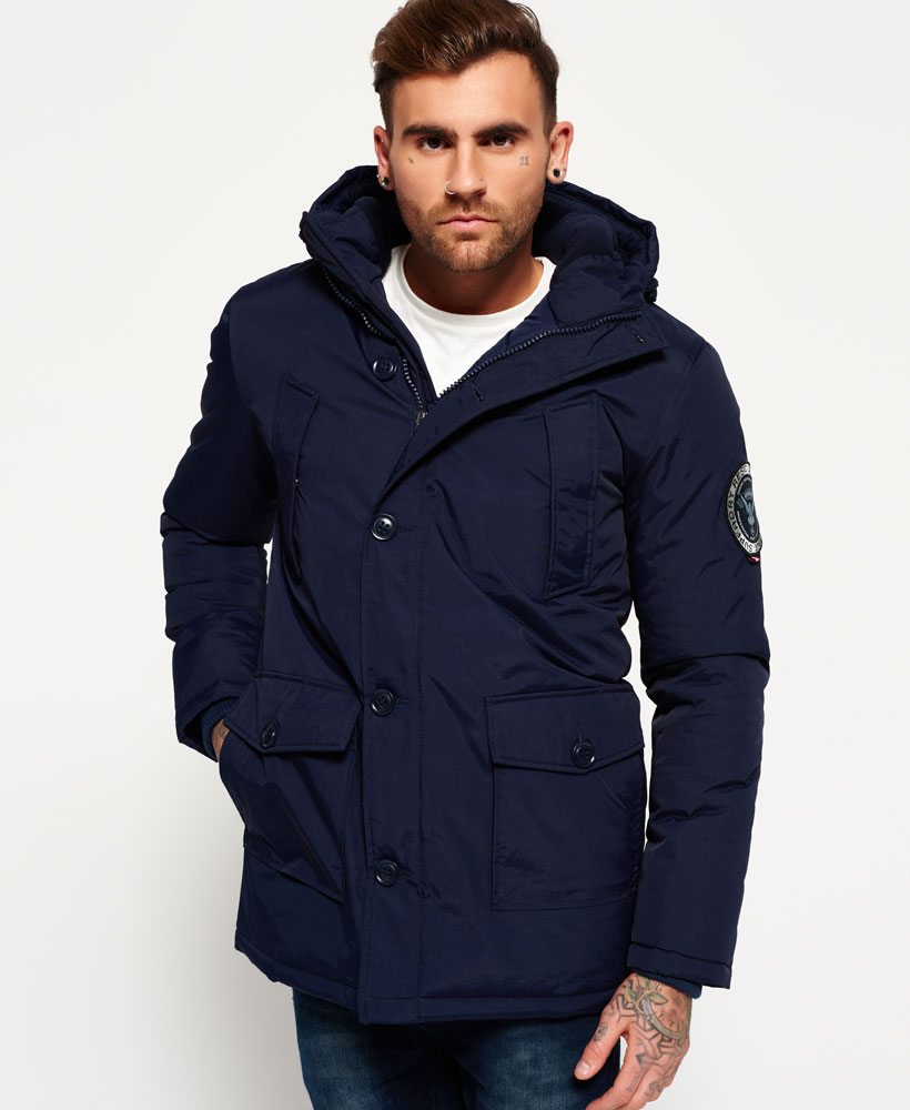 1dd0e6e75d93a Sentinel New Mens Superdry Everest Parka Jacket Navy