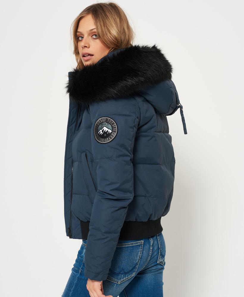 elegant shape fresh styles street price Details about Womens Superdry Everest Ella Bomber Jacket Teal