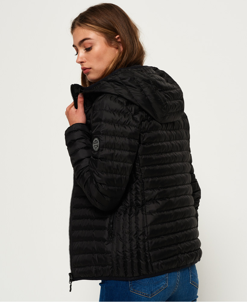 Hooded Womens Core Superdry Ebay Down Jacket Black qFOS1fnFtw