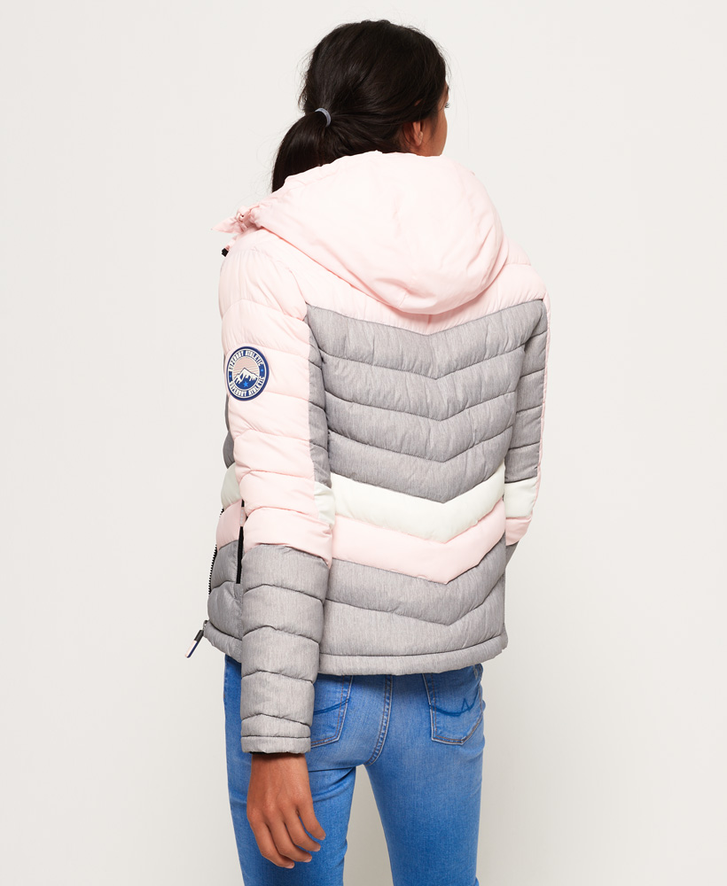 Details about Womens Superdry Offshore Chevron Fuji Jacket Blush Mix