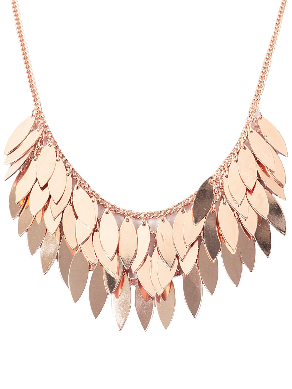 eb9b311b8aa254 Leila Eve London Multi Layered Bold Leaf Petal Diamond Cascade Necklace