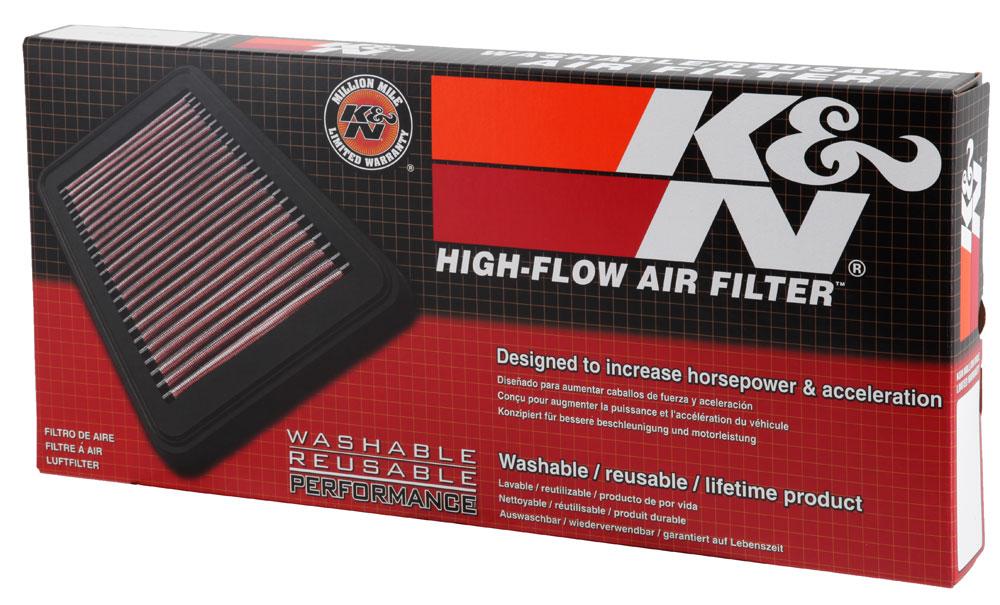 K/&N Air Filter 33-2683; Oiled Cotton Gauze 1.125