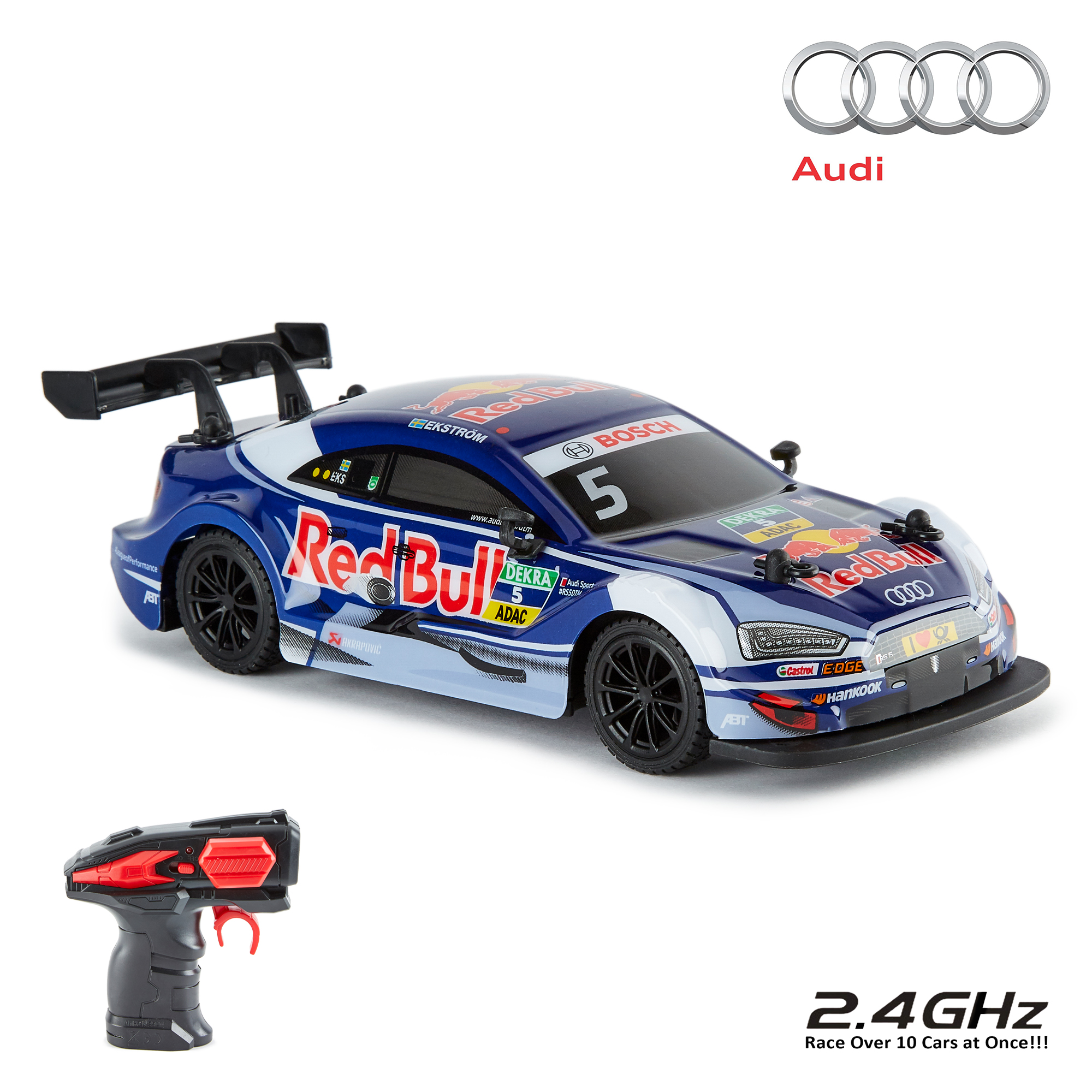 Details zu CMJ Remote Control 11:11 11.11Ghz Official Licensed Audi RS11 DTM RC  Car - Red Bull | audi rc cars