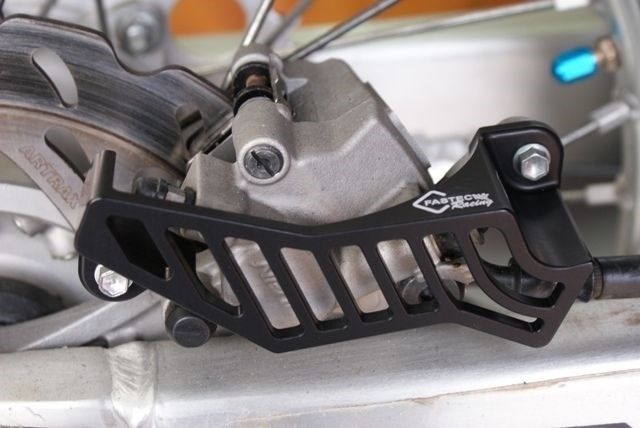 Fastec Motorcycle Bike Rear Brake Caliper Guard for Yamaha YZ//WRF Blue