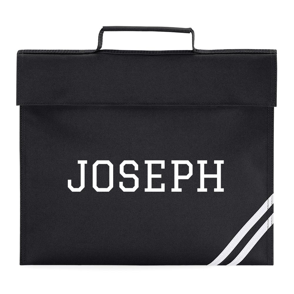 Personalised Varsity Kids Name Book Bag Homework Back To School Boys Girls