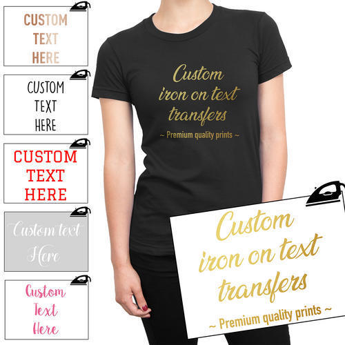 8627683f7 Custom Iron On T Shirt Transfer Personalised Any Text Your Name Hen Stag  Vinyl