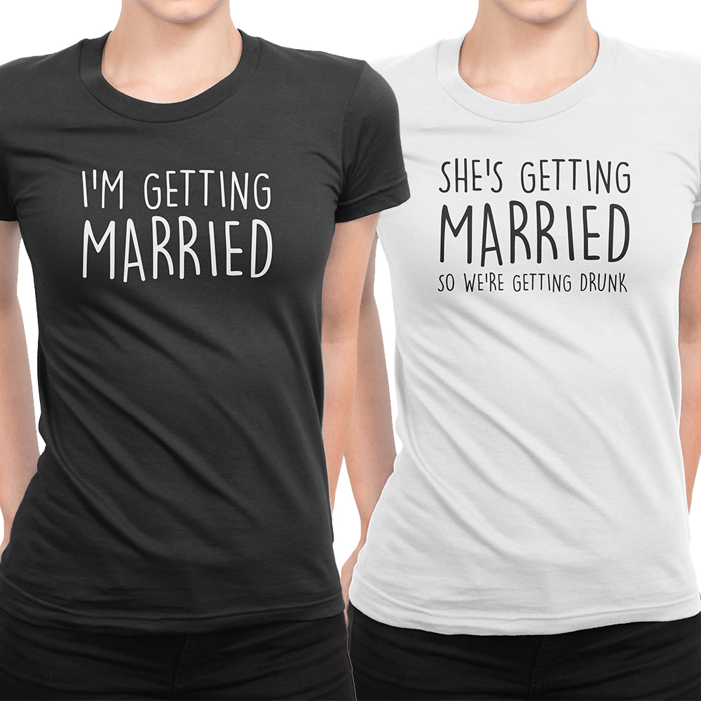 Bride WOMENS T-SHIRT Marriage Wedding Hen Night Party Soon Funny Gift birthday