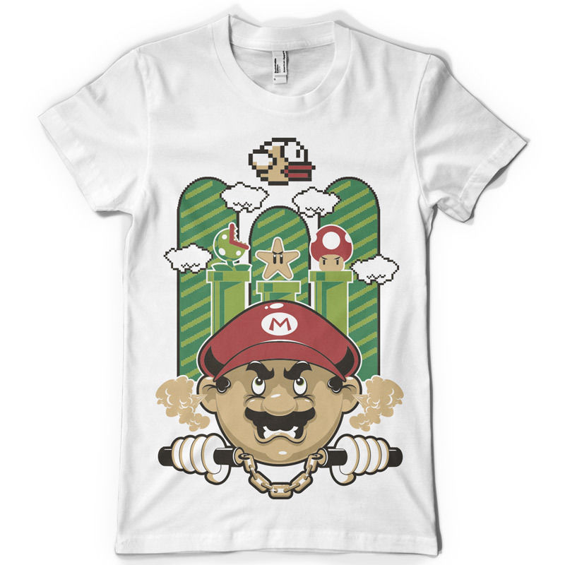 Damn You Flappy Printed Sweater Mario Inspired Graphic Design Print Jumper