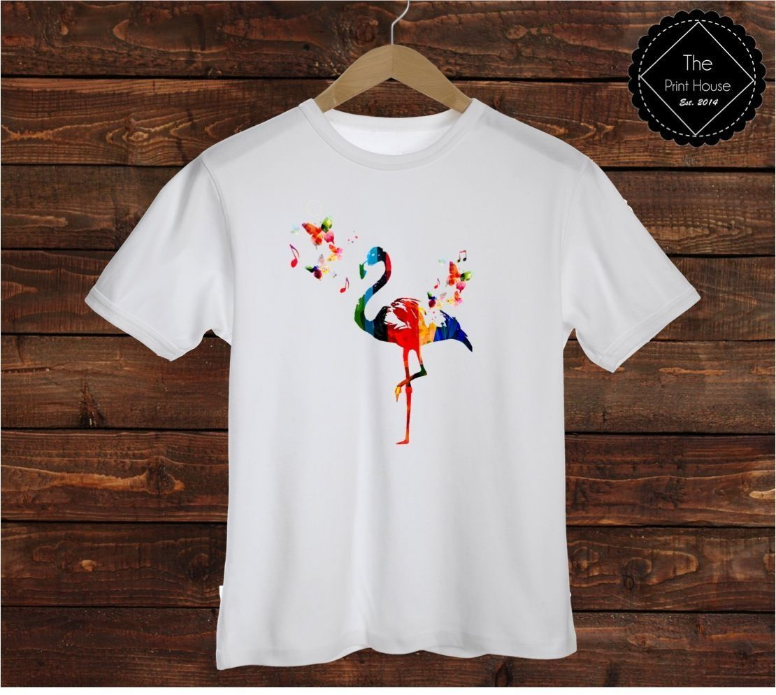 Colourful Flamingo Womens Long Sleeve Top Dope Hipster Shop Urban Art Animals
