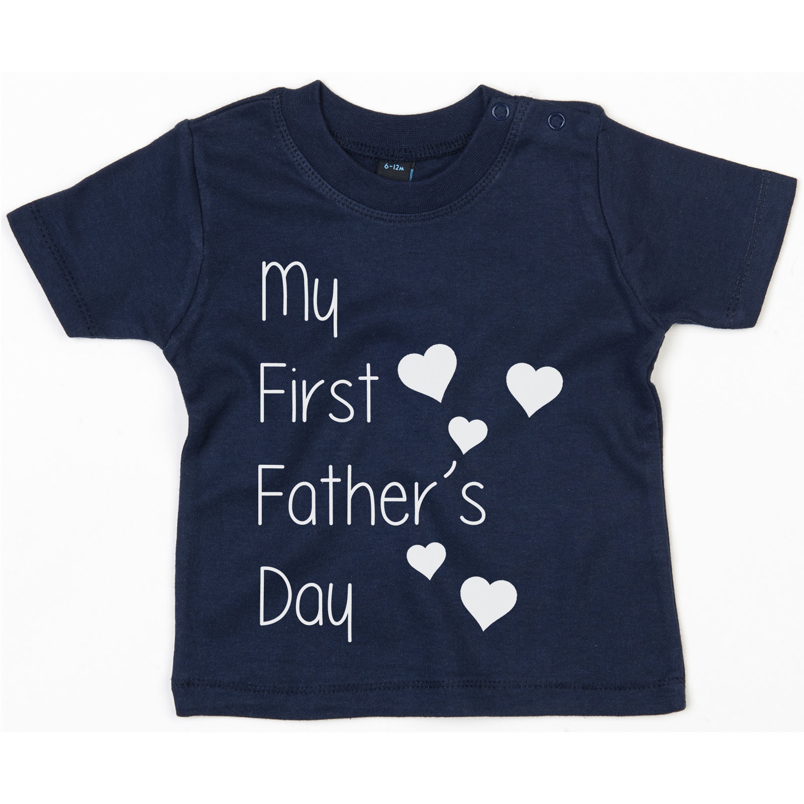 10b0785e My First Fathers Day Baby T Shirt Romper Cute Gift Dad Daddy Newborn Tee  Hearts