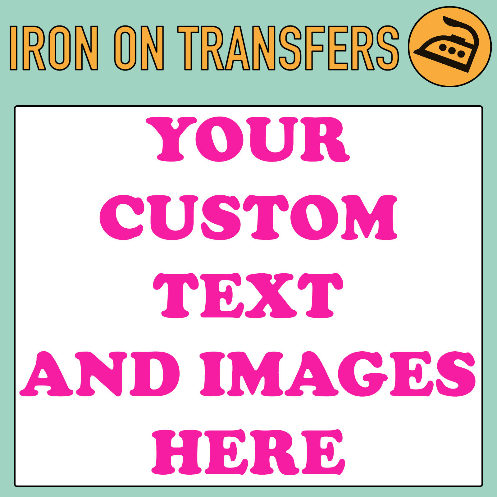911395bf7 Custom Iron On T Shirt Transfer Personalised Text Quality Prints Your Name  Image