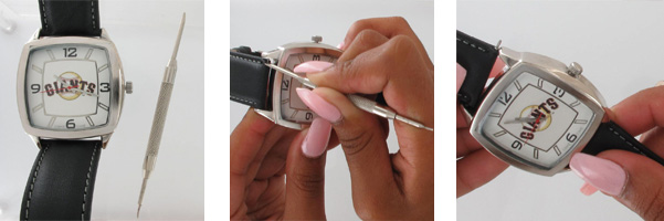 Removing the watchband