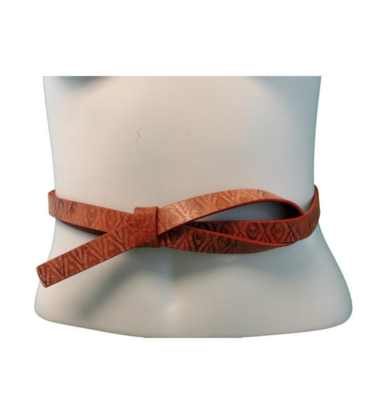 "Nanette Lepore Brown Rust Thin Loop Belt Size Medium 29"" to 32"""