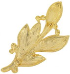 Gold Tone Large Leaf and Berry Pin Brooch Thumbnail 2