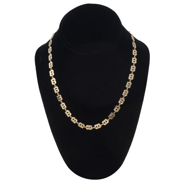 "Fabulous Gold Tone Chain Link Initial Necklace ""B"""