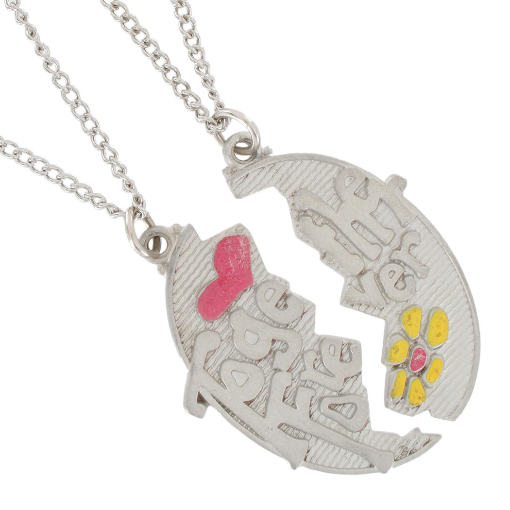 Pendant Bff Necklace Set Best Friends Together Forever Thumbnail 2