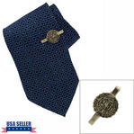 Vintage State of Connecticut CT Seal Gold Tone Men's Tie Clip