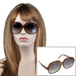 Vintage Retro Large Faux Tortoise Brown Sunglasses UV Protection Lenses