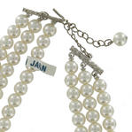 Vintage 1950s Japan Faux Pearl 3 Strand Choker Necklace Thumbnail 5