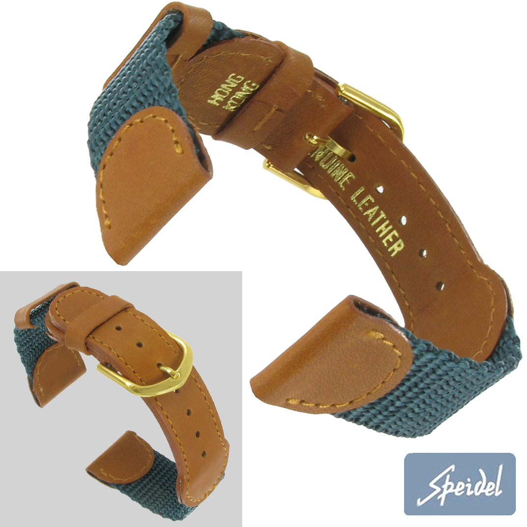 Speidel 18mm Nylon Sport Teal Mens Watch Strap Expedition Mens