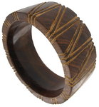 Big Brown Dark Wood Bangle Bracelet