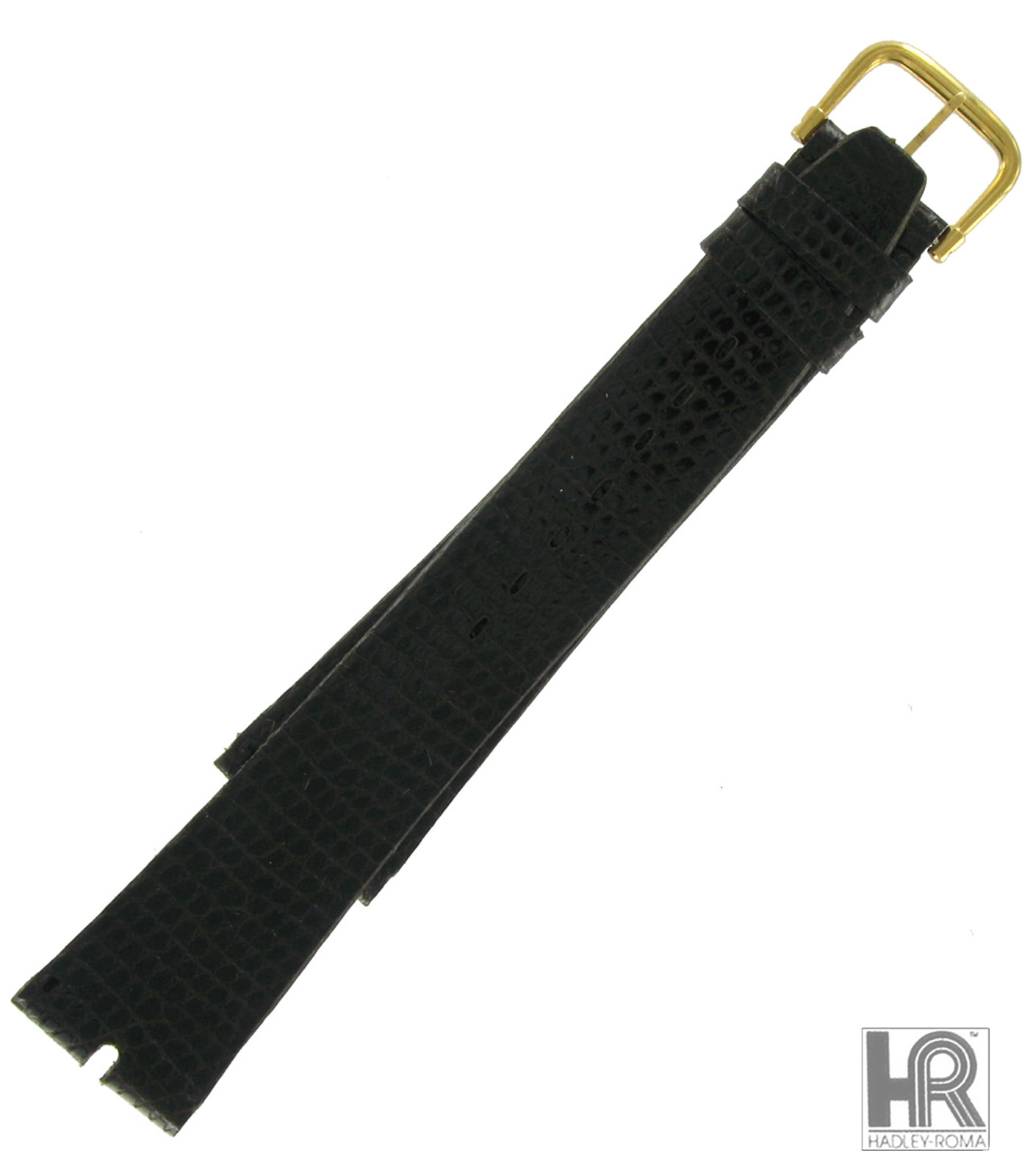 Hadley-Roma MS972 20mm Brown Java Lizard Watch Strap Chisel Tip