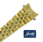 Speidel 13mm Bracelet Watch Band Gold Tone Straight OR #16 Curved End Ladies