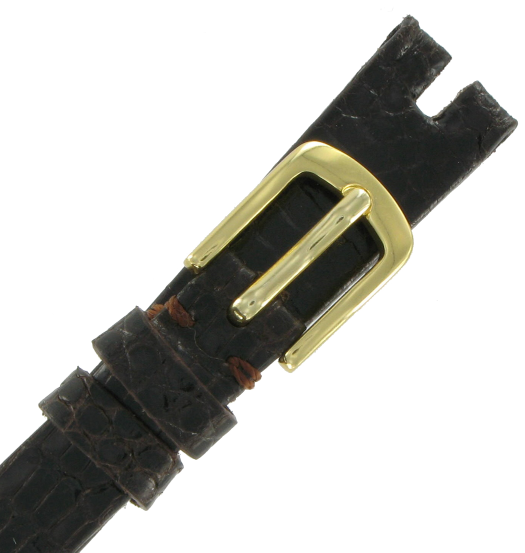 Hadley-Roma LS974 14mm Brown Java Lizard Watch Strap Ladies