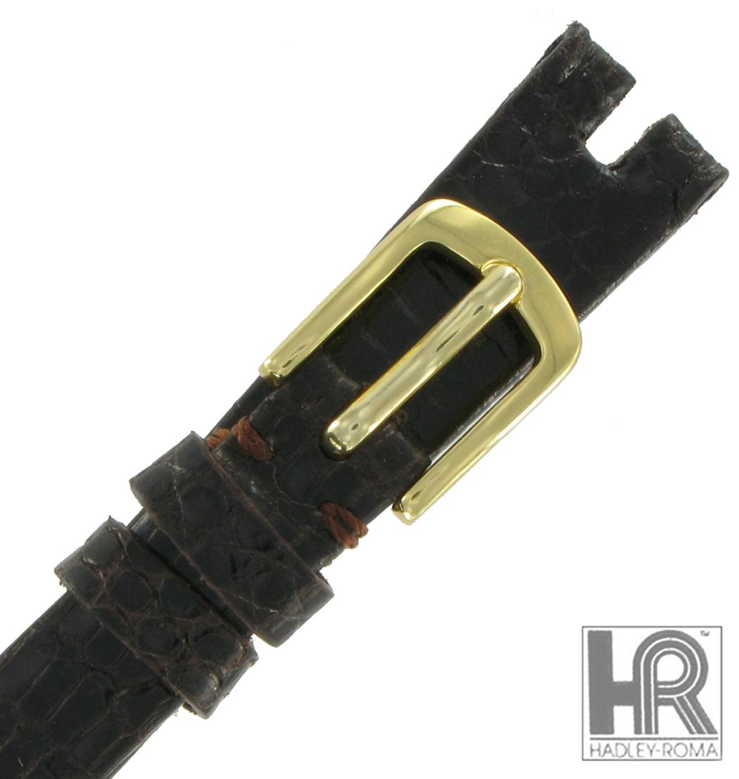 Hadley-Roma LS974 12mm Brown Java Lizard Watch Strap Ladies