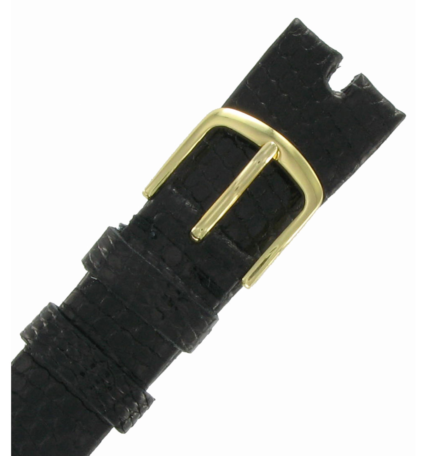 Hadley-Roma MS972 17mm Black Java Lizard Mens Watch Strap