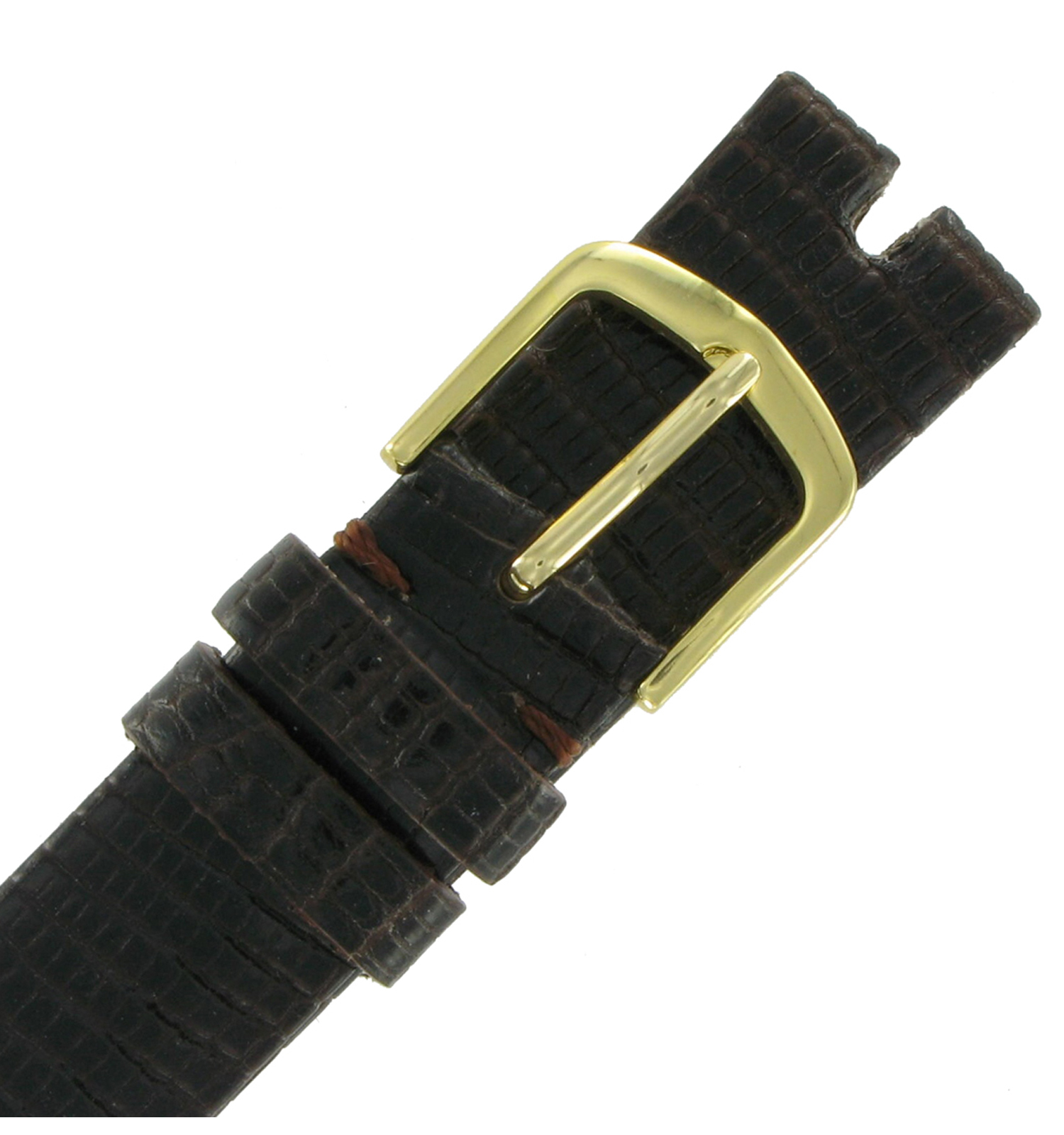 Hadley-Roma MS972 16mm Brown Java Lizard Watch Strap