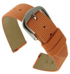 Hadley-Roma LS732 16mm Orange Grosgrain Ribbon Speedstrap Watch Strap