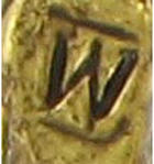 "Large Script Gold Tone Rope Initial ""V"" Pin Brooch Thumbnail 3"