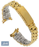 Speidel Bracelet Watch Band 13mm Ladies Yellow Gold Tone #16 Curved End