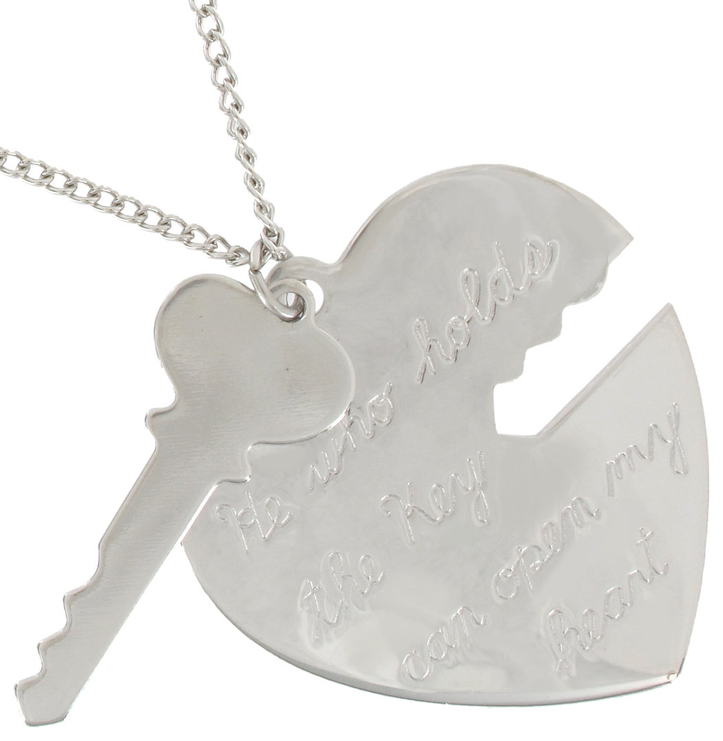 Silver heart key pendant necklace 1336 21 made in usa pendant key to my heart silver tone heart key pendant necklace usa made aloadofball Image collections
