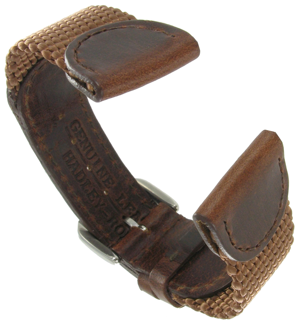 Hadley Roma MS866 19mm Mens Brown Nylon Sport Watch Strap Band