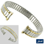 Speidel 11-12mm Ladies Two Tone Bracelet Watch Band Curved End