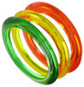 Bangle Bracelet Set Orange Yellow Green Translucent New