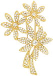 Napier Gold Tone Rhinestone Pin Brooch Flower Orginal Gift Box