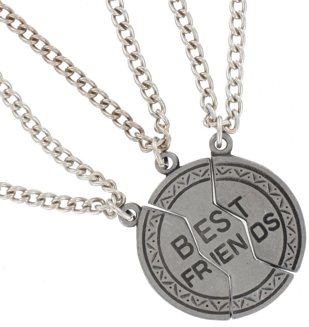 best friend jewelry for 3 pendant bff necklace set 3 part best friends silver tone ebay 3453